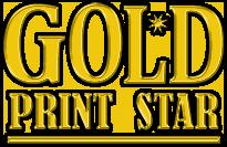 Gold Print Star logo